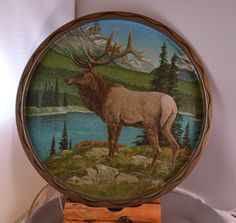 Vintage Majestic Stag Metal Tray Serving / by loveandsqualor1974, $18.00