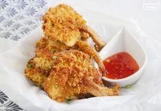 Boczniaki na chrupko. Pyszna wege przekąska. PRZEPIS Vegetarian Recipes, Cooking Recipes, Kfc, Tandoori Chicken, Chicken Wings, Cauliflower, Stuffed Mushrooms, Meat, Vegetables