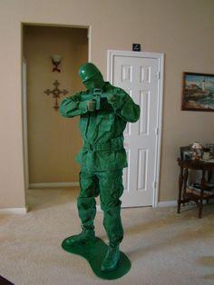 DIY Halloween DIY Costumes: DIY Toy Green Army Man Halloween Costume