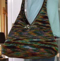 Felted Knitting PATTERN  Felted Roomy Shoulder Tote by PippsPurses, $5.50