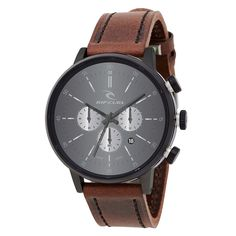 Rip Curl Mens Watch Drake Leather