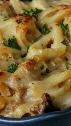 Chicken Fettuccine Bake ~ Creamy pasta dish that is easy to put together, bake a.Chicken Fettuccine Bake ~ Creamy pasta dish that is easy to put together, bake and serve. Chicken Alfredo, Alfredo Sauce, Baked Chicken Fettuccine Alfredo Recipe, Chicken Pasta, Fettuccine Recipes, Fettuccine Pasta, Pasta Recipes, Casserole Dishes, Casserole Recipes