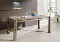 Palisander Möbel Esstisch 120x90 Sheesham Holz massiv NATURE GREY #502