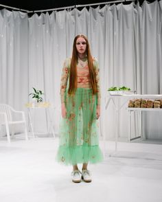 Not my usual aesthetic, but this particular ensemble is compelling.  Molly Goddard Spring 2016 Ready-to-Wear Fashion Show
