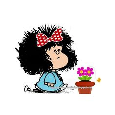Flores para ti....💕 Soto Zen, Mafalda Quotes, Cartoon Wall, Snoopy, Thinking Quotes, Strip, Illustrations And Posters, All You Need Is Love, Cute Illustration