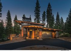 Modern mountain home built by NSM Construction in Martis Camp