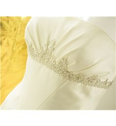 Unbranded Size 12 Ivory Strapless Wedding Dress with Filigree Detailing at Empire Line | Oxfam GB | Oxfam's Online Shop