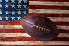 Sports Art - Old Football On American Flag by Garry Gay American Flag Art, American Sports, American Football, American History, Football Art, Football Season, College Football, Football Images, Football Stuff