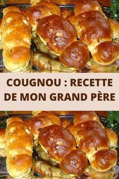 Une recette typique de Belgique et du nord de la France, le cougnou aussi appelé cougnole est une brioche consommée pendant la période de Noël. Elle est souvent offerte aux enfants le jour de Noël. On peut la trouver agrémentée de raisins secs, de sucre perlé ou de pépites de chocolat. Celle-ci est la version « nature », ce cougnou recette de mon grand père. A déguster avec un bon chocolat chaud.  Cette brioche ressemble à l'enfant Jésus emmailloté… Le terme cougnole est utilisé dans le… Buffet, Beignets, Pretzel Bites, Christmas Baking, Amazing Cakes, Biscuits, Sandwiches, Deserts, Food Porn