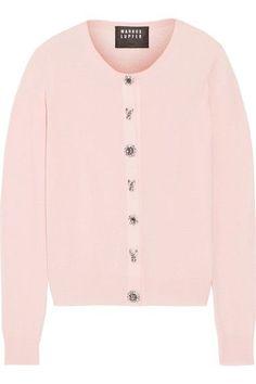 MARKUS LUPFER April Crystal-Embellished Merino Wool Cardigan. #markuslupfer #cloth #knitwear