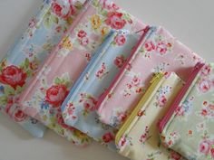 Lecien Antique Flower Collection zipper pouches | Flickr - Photo Sharing!