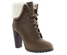 Block Heeled Hiker Boots