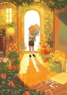 181/365 Pretty Art, Cute Art, Aesthetic Art, Aesthetic Anime, Scenery Wallpaper, Anime Scenery, Animes Wallpapers, Art And Illustration, Storyboard