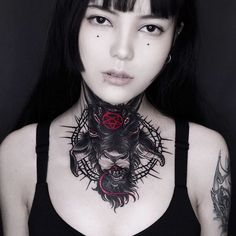 Would you sport this neck tat? Tag a friend who would! And don't forget to give the artist some love! Dark Tattoo, Dark Fashion, Tattoo Artists, Cool Tattoos, Tatting, Archive, Forget, Color, Sport