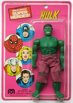 ♣1978 Mego Hulk. Hulk Smash! message to people looking who might be THE HULK purple stretch pants might be a GIVE AWAY!!!♣ツ