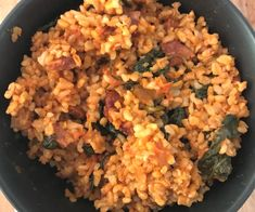 Easy Spanish Rice with Chorizo - [Food] Healthy Mummy - Rice Recipes Chorizo Recipes, Risotto Recipes, Tapas Recipes, Savoury Recipes, Rice Recipes, Healthy Mummy Recipes, Easy Dinner Recipes, Easy Meal Prep, Easy Meals