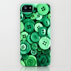 Button Green iPhone & iPod Case by Alice Gosling - $35.00