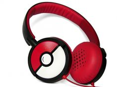 Poke-phones Pokemon gift for her customized headphones iphone birthday gift for him red Pokeball video game sound red music Plattan Computer Headphones, Cute Headphones, Sports Headphones, Geeks, Pokemon Gifts, Pokemon Stuff, Headset, Game Controller, Phone Accessories