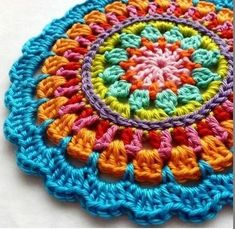 Crochet Mandala + Free Pattern + Diagram