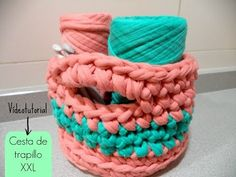 Cesta trapillo (tutorial paso a paso) - YouTube