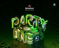 HEINEKEN - PARTY AS ONE on Typography Served