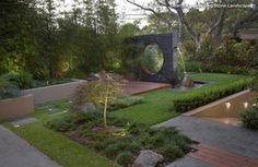 Japanese zen courtyard garden