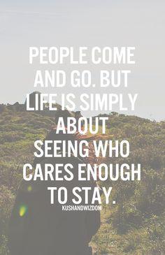 KUSHANDWIZDOM: people come and go...