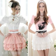Free shipping new 2014 spring fashion women`s skirt multi-petal  tutu skirt waist edges 011 sweet layered female skirt € 8,50