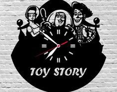 Wooden Color Clocks,Boxes,Holders and Notebooks Custom por Vinyl Record Clock, Vinyl Records, Disney Wall Decor, Nursery Decor Boy, Room Decor, Toy Story Movie, Disney Gift, Wood Clocks, Laser Cut Wood