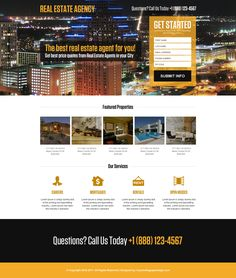 real estate agent mini responsive landing page design Real Estate Business, Real Estate Agency, Real Estate Investing, Real Estate Website Templates, Real Estate Website Design, Real Estate Landing Pages, Price Quote, Landing Page Design, Make More Money