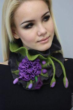 Шарфы и шарфики ручной работы. Шарф из шерсти