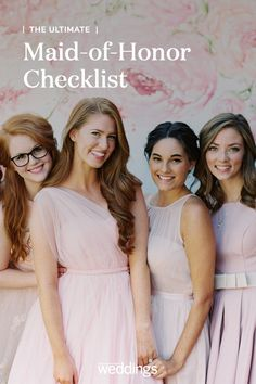 It's quite a privilege to be named the bride's right-hand woman—which is why we suggest researching your job before wedding planning is in full swing. Budget Wedding, Wedding Blog, Wedding Events, Wedding Ceremony, Lace Wedding, Wedding Ideas, Wedding Planning Timeline, Two Brides, Before Wedding