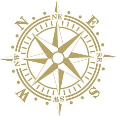 Compass Rose Removable Wall Art Vinyl Dinning Room Decal Nautical Theme Living Room up to 20x20 inches