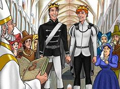 Disney has announced that it will be producing its first animated feature film with two openly gay lead characters who will fall in love and, by the end of the film, even find happiness in a fairytale, same-sex wedding. Disney And Dreamworks, Disney Pixar, Walt Disney, Funny Disney, Disney Art, Disney Princes, Disney Movies, Illuminati, Prince And Princess