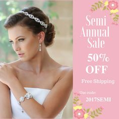 Provide brides the high quality handcrafted Swarovski bridal jewelry and accessories for their beautiful wedding day and keepsake memories. Bridal Bracelet, Bridal Earrings, Bridal Jewelry, Semi Annual Sale, Bridal Headpieces, Silk Flowers, Swarovski, Wedding Day, Bride