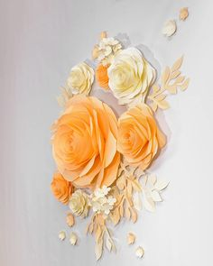 Wedding Backdrop Large Paper Flowers Nursery Wall