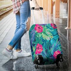 Unicorn Crown Travel Luggage Cover Stretchable Polyester Suitcase Protector Fits 18-20 Inches Luggage