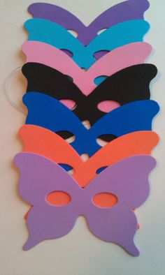 Butterfly Mask 5 pack Masquerade Masquerade by StacheMeIfYouCan