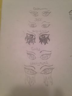 These r some creepypasta eyes they're not great but they're okay. Im working on more and I will post them soon! #lovecreepypasta
