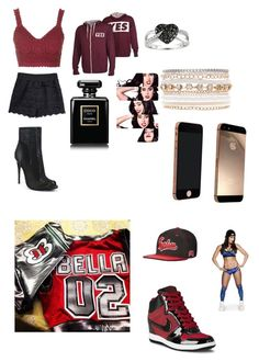 Dressing up as Nikki for Kayla vs Nikki Bella by banks-on-it on Polyvore featuring Topshop, NIKE, Fahrenheit, Lane Bryant, Ice, Chanel and WWE