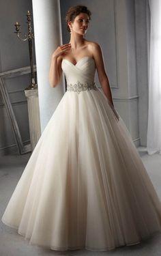 High Quality Floor-length Sweetheart Wedding Dress