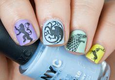 The Nailasaurus | UK Nail Art Blog: Game of Girly Thrones