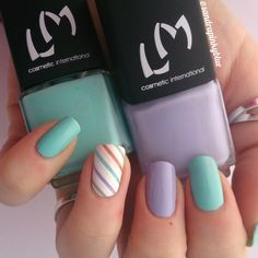 Nail art avec Lm cosmetic - Pastel your life (and your nails!)