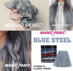Manic Panic Blue Steel, I definitely need to try this. …