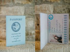 Swap programs for passports: | 27 Travel-Inspired Wedding Ideas You'll Want To Steal