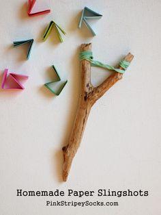 how make a DIY paper slingshot