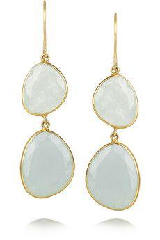 Pippa Small, 18-karat gold aquamarine drop earrings