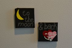A personal favorite from my Etsy shop https://www.etsy.com/listing/332072063/to-the-moon-and-back-magnet-pair