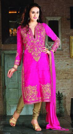 Attractive Pink Salwar Kameez