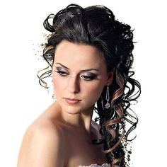 Wedding Hair | Wedding Hairstyle Curly | Side Curls Wedding Hair | Creatively Beautiful Look 4 | WeddingHair.com